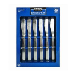 Daily Chef Stainless Steel Dinner Knives Set 36 Ct