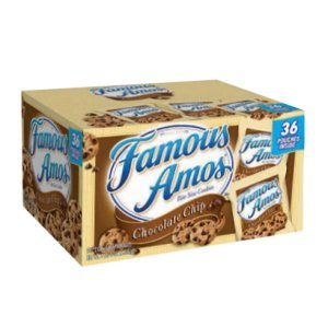 Famous Amos Chocolate Chip Cookies 2 oz Bags 36 Count