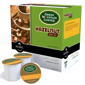 Green Mountain Hazelnut Decaf Light Roast, 18 K Cups Keurig
