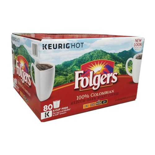 Folgers Lively Colombian, 80 K Cups Keurig - Click Image to Close