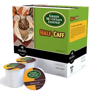 Green Mountain Half-Caff Medium Roast, 18 K Cups Keurig