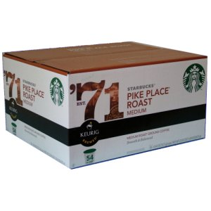 Starbucks Pike Place Medium Roast, 72 Count K Cups Keurig