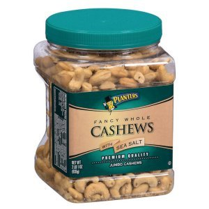 Planters Fancy Whole Cashews with Sea Salt 33 oz